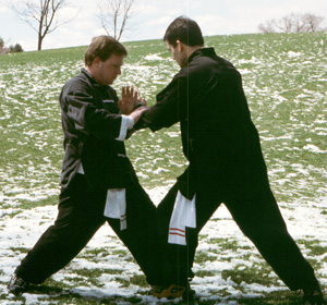 Utah winter Push Hands class at Liberty Park